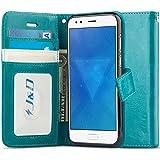 J&D Case Compatible for ZenFone 4 Case, [RFID Blocking] [Slim Fit] Heavy Duty Protective Shockproof Flip Wallet Case for ASUS ZenFone 4 ZE554KL Wallet Case - [NOT for ZenFone 4 Pro/4 Max/4 Selfie Pro]