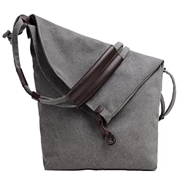ParaCity Women s Casual Large Shoulder Bag Canvas Shoulder Bag Canvas Messenger  Bag For Women Girls Students 4ffe383dd