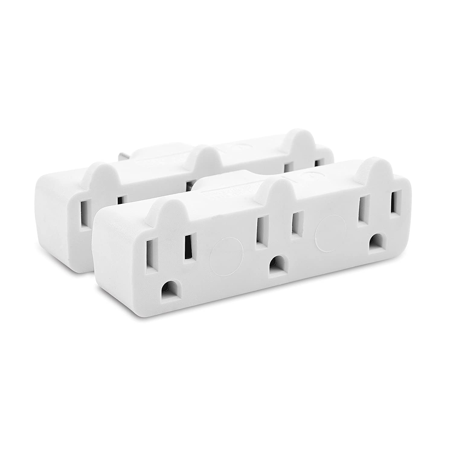 Cable Matters 400018x2 GT300RC1-2 2-Pack 3-Outlet Grounded Wall Tap Strip