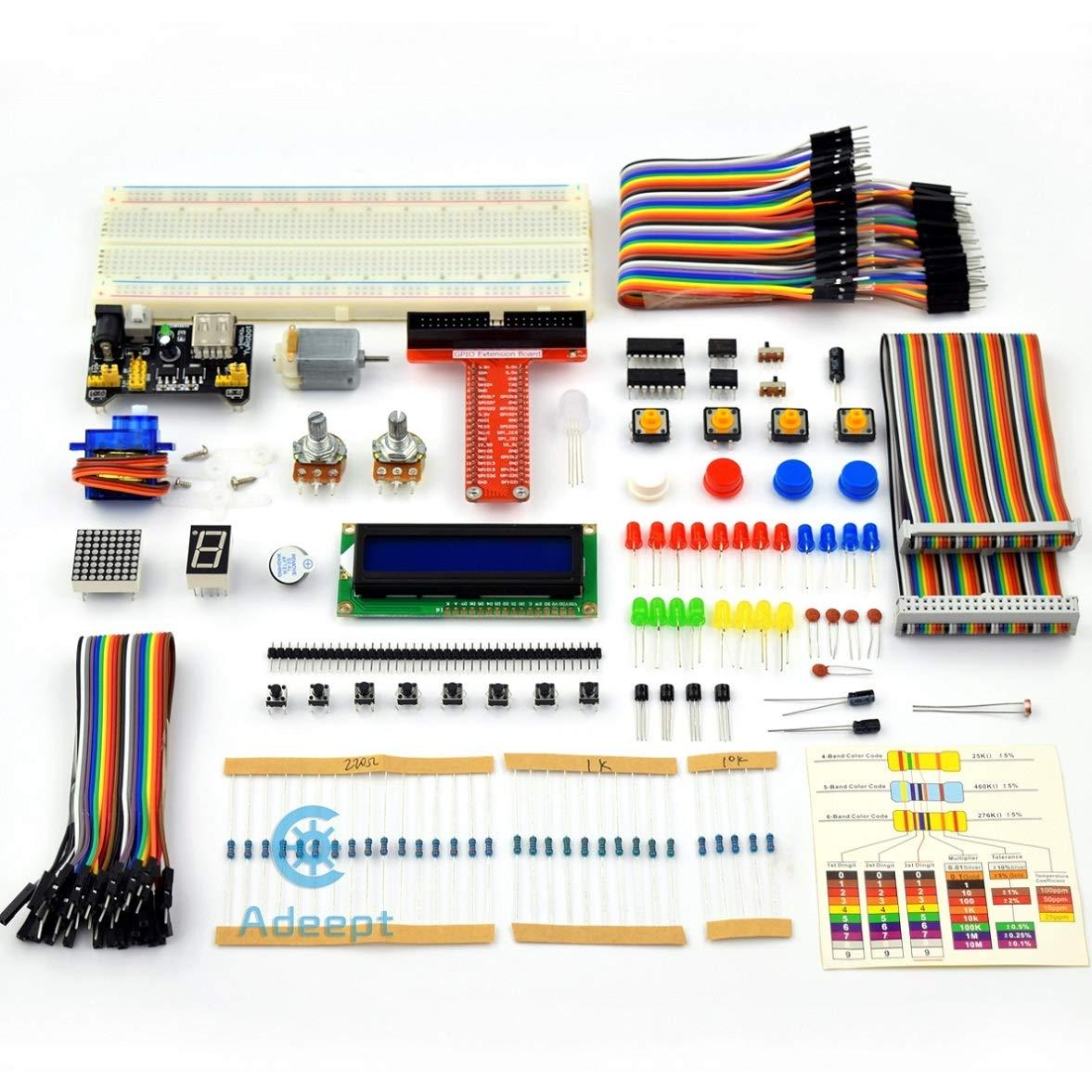 Adeept Super Starter Kit For Raspberry Pi 3 2 Model B Lcd1602 Beginner Electronic Circuits