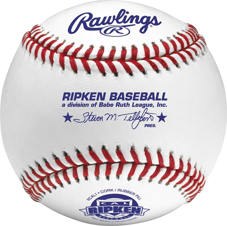 Rawlings Cal Ripken Competition Grade Youth Baseballs, Box of 12, RCAL1