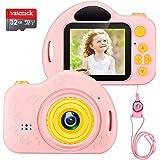 vatenick Cámara Digital para Niños Juguete para Niños Regalos Cámara De Vídeo A Prueba De Choques Pantalla HD de 2…