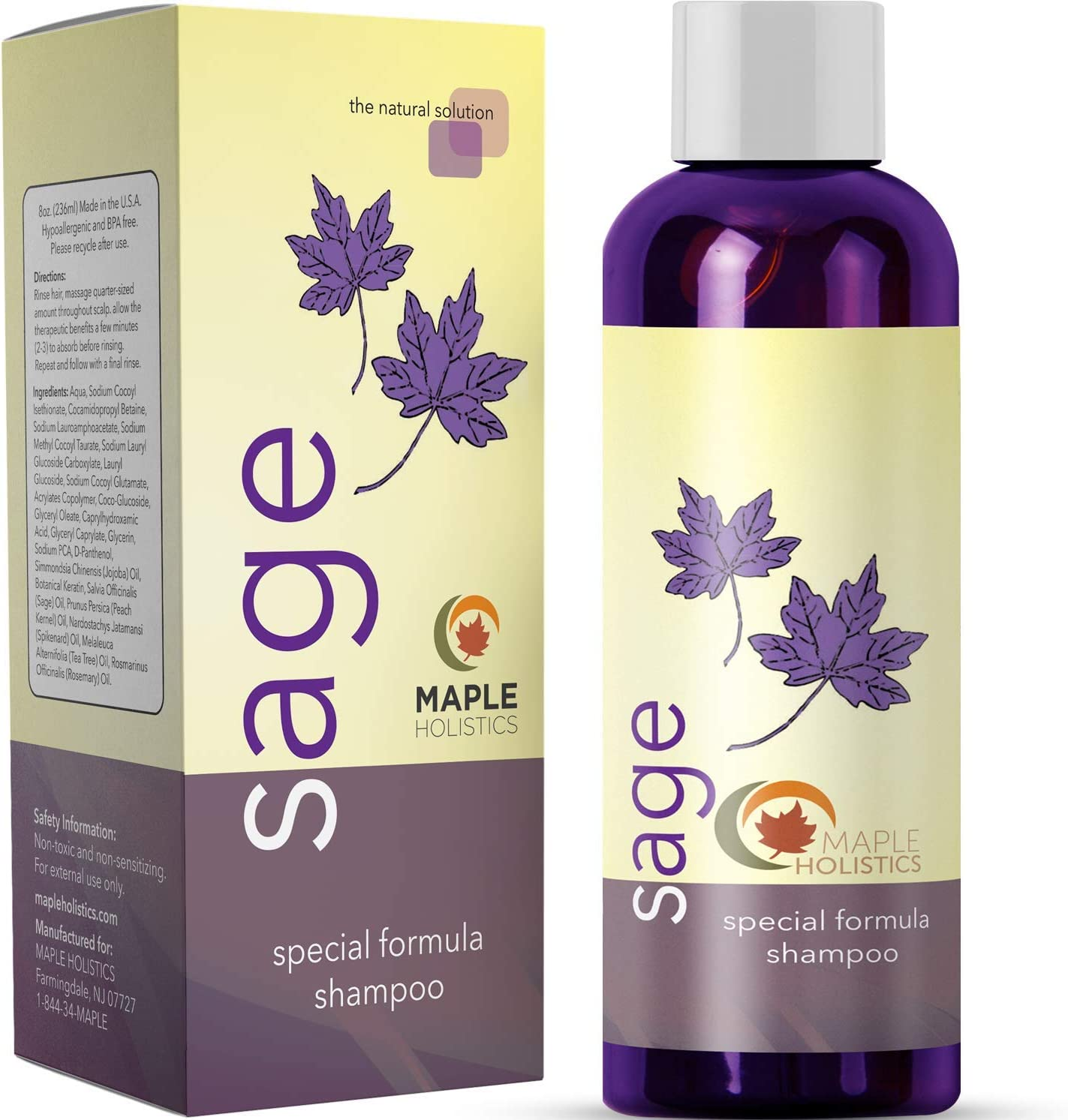 Maple Holistics Sage Shampoo for Anti Dandruff