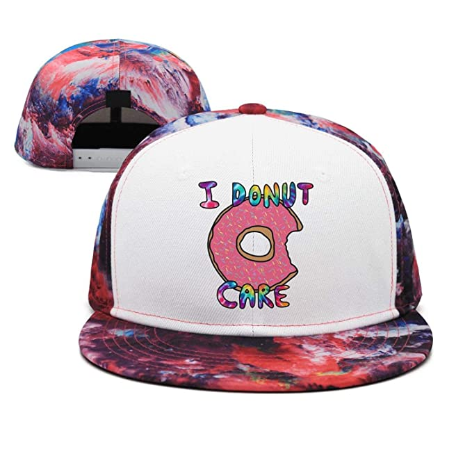 759142ed9 Wlpjsjkd Colorful Rainbow i Donut Care Flat Curved Braves Baseball ...