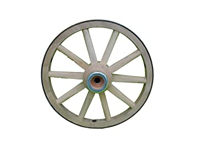 Amazon.com: Funcional – Madera Wagon Rueda – Pequeñas ruedas ...
