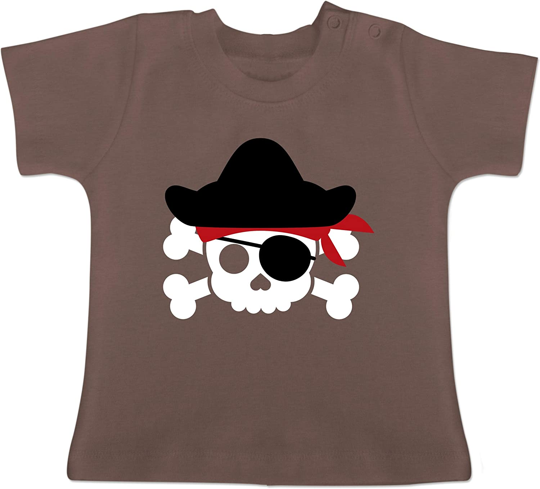 Piratenkopf Kost/üm Baby T-Shirt Kurzarm Karneval und Fasching Baby