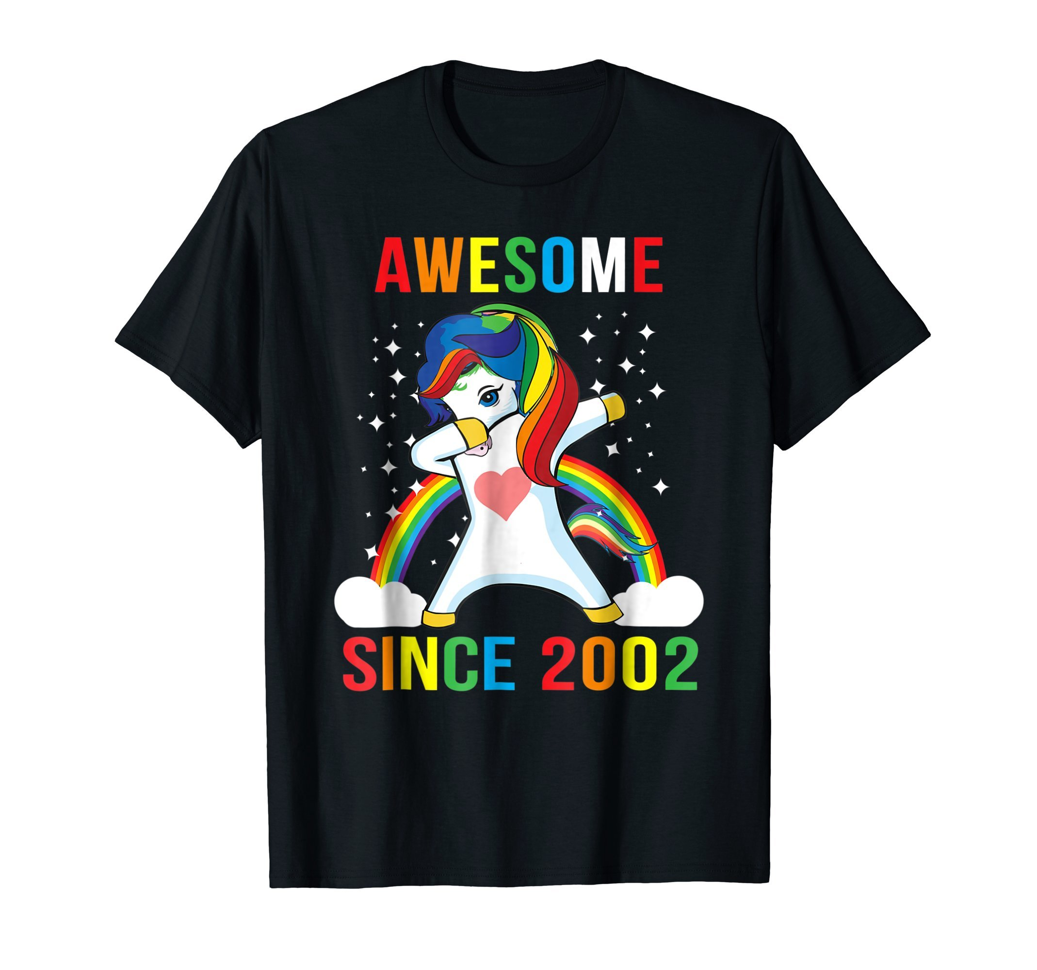 Dabbing Unicorn Awesome Since 2002 16th Birthday T Shirt