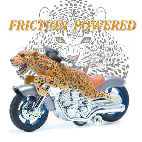 BigNoseDeer Los Juguetes de los Animales Leopard Fricción Motocicletas Juguetes (Leopard)