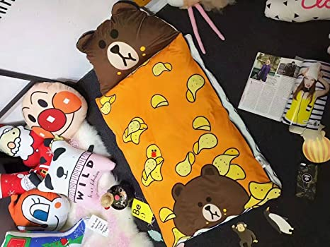 Moda Oso bolsas de dormir para niños invierno cachemir saco de dormir para Camping/Jardín