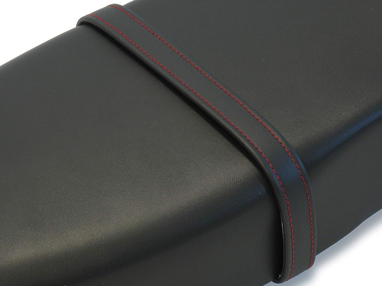 Handarbeit AKF Halteriemen f/ür Sitzbank schwarz mit Ziernaht in Rot
