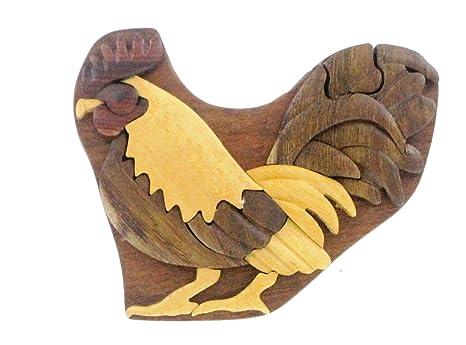 Amazon.com: Hawaii Puzzle caja de joyería – Gallo: Home ...