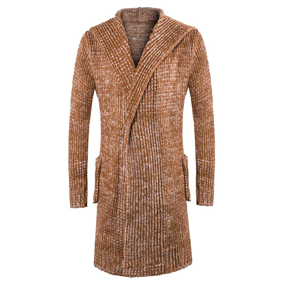 Allywit M-5XL Mens Outwear Casual Open Front Cardigan Long Cape Poncho Trench Coat