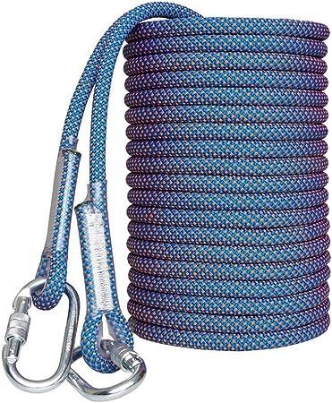 YYHUWAI Cuerda de Escalada estática, mosquetones mejorados de ...