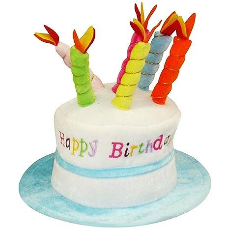 Henbrandt - Sombrero con forma de tarta de cumpleaños ...