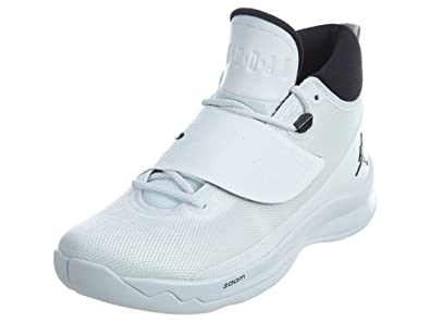 2b039401d5e189 Image Unavailable. Image not available for. Color  Jordan Men s Super Fly 5  Basketball Shoes White Black-White 10