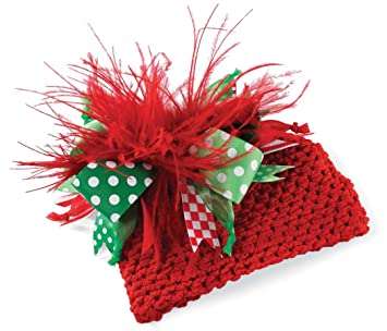 5c33a56ed9a314 Image Unavailable. Image not available for. Color: Mud Pie Baby Girls  Christmas Crocheted Bow Hat ...