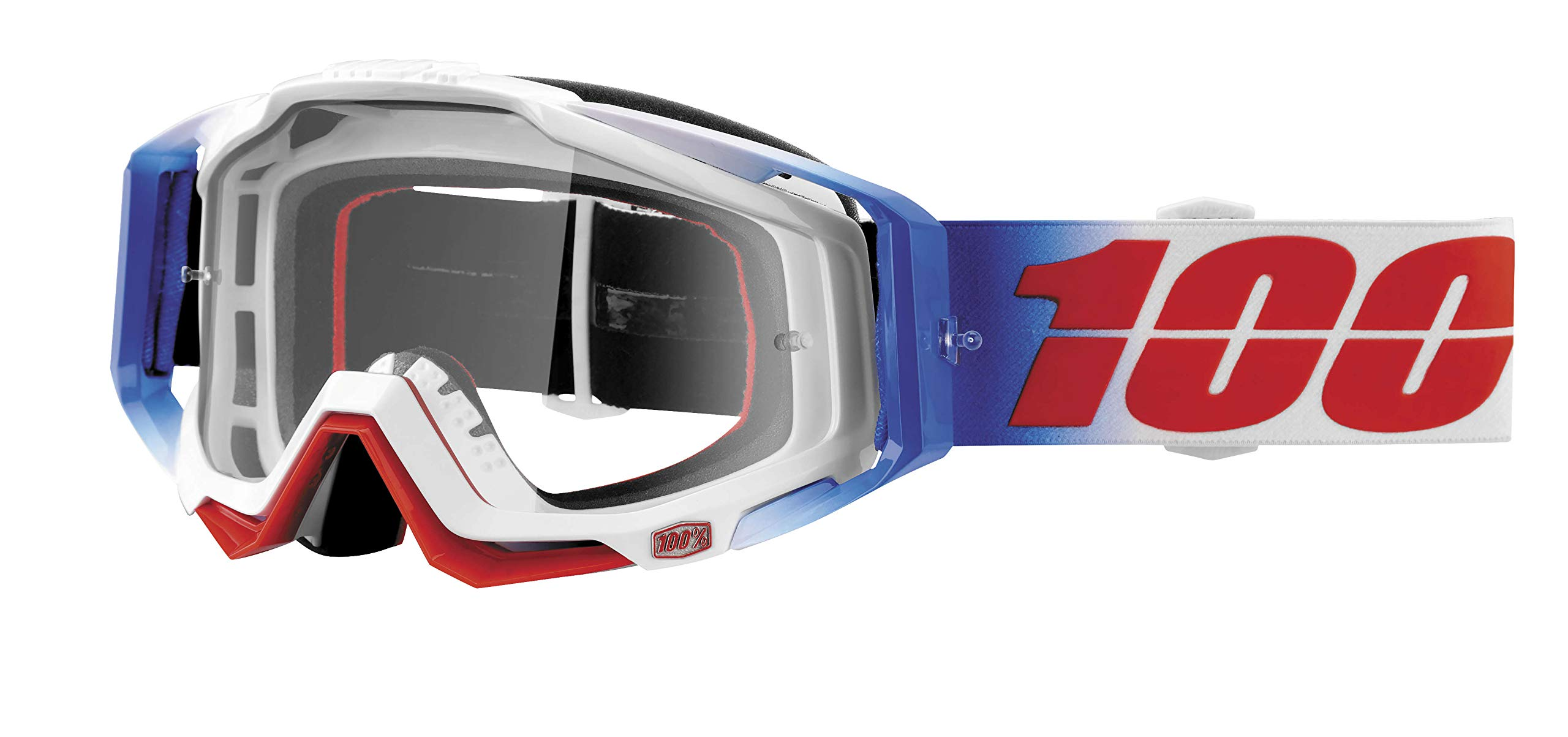 100% Unisex-Adult Speedlab (50100-223-02) RACECRAFT Goggle Fourth-Clear Lens, One Size)