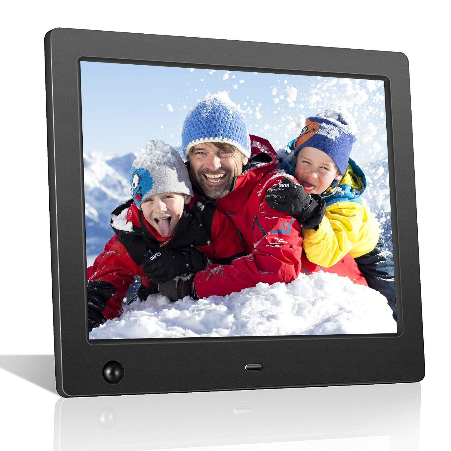 Digital Picture Frame 8 inch, Digital Photo Frame Video Player with Motion Sensor Smart Electronics Picture Frame High Resolution 1024x768 IPS LCD/1080P 720P /Stereo/MP3/Calendar/Time/Remote Control by Quality Life
