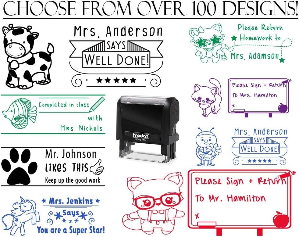Round Teacher Stamp Teacher Property Stamp