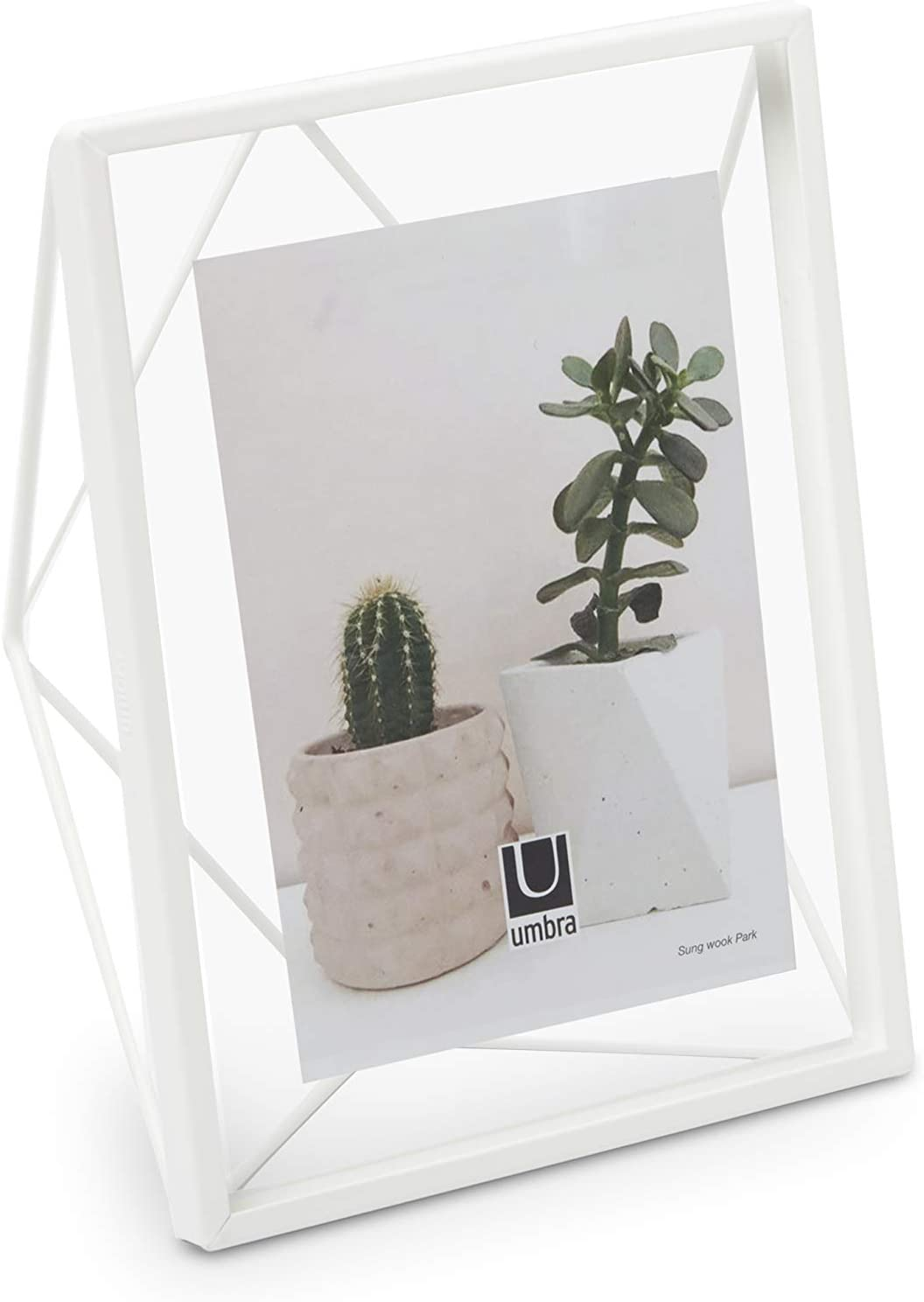 """Umbra, White Prisma 5x7 Picture Frame for Desktop or Wall, Holds One 5""""x7"""" Photo, 5 by 7-Inch"""