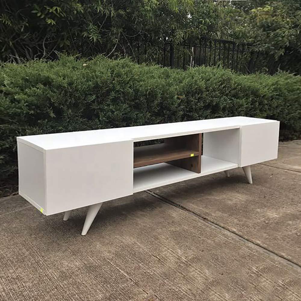 White//Walnut melamina PVC L160xP29,7xA40,6 cm MINAR by Homemania Mobile TV Dore