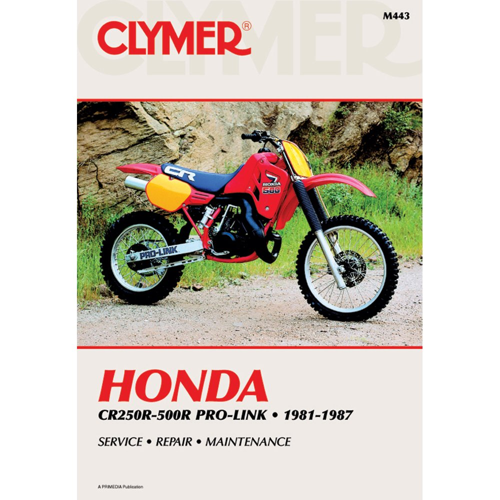 amazon com clymer honda cr250r 500r pro link 1981 1987 53164 rh amazon com honda cr250r service manual pdf 2003 honda cr250r service manual pdf