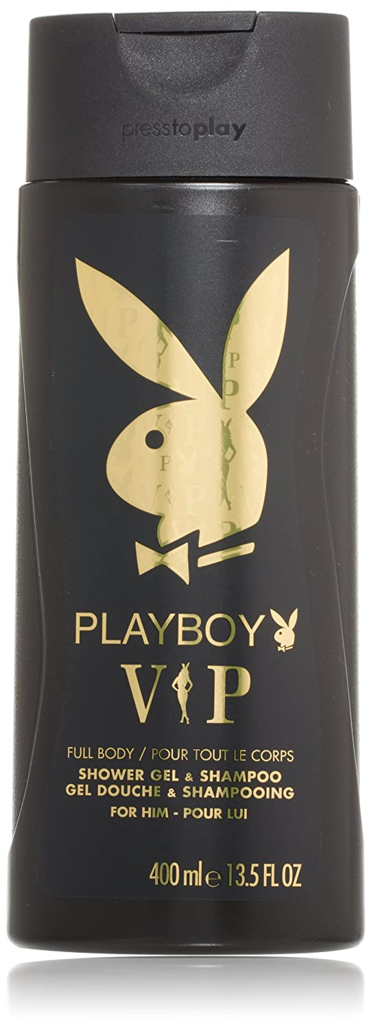 Playboy VIP Full Body Shower Gel & Shampoo for Him , 13.5 Ounce