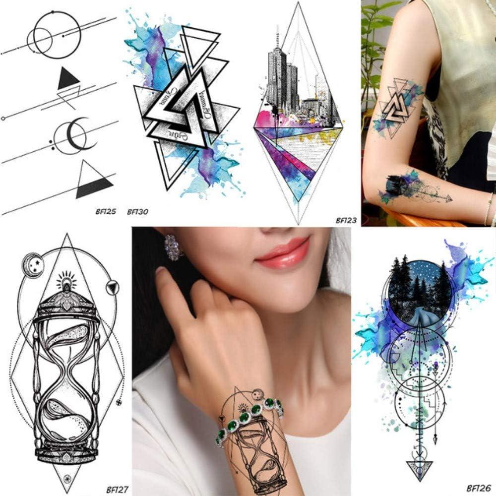 Geometría Rhombus Trangle Masculino Temporal Tatuaje Galaxia ...