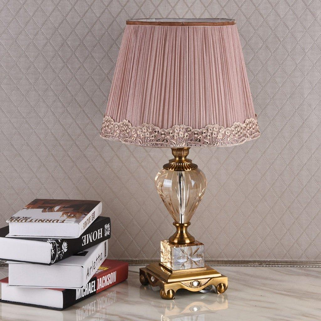 Hanlon E27-Schraubsockel, Tischlampe Klassisch Einfache Modern High-End Europäische Luxuskristall Lampe Jane Europäische Nachttischlampe