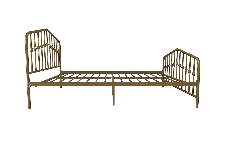 Amazon.com: DHP 4176229N Novogratz Bushwick Metal Bed, Full, Gold ...