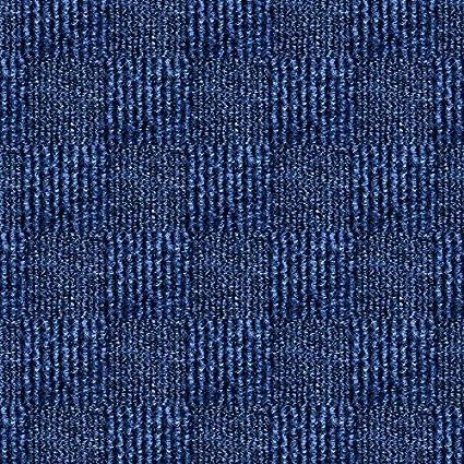 24 X 24 Carpet Tile Peel And Place Crochet Ocean Blue 60sq Ft