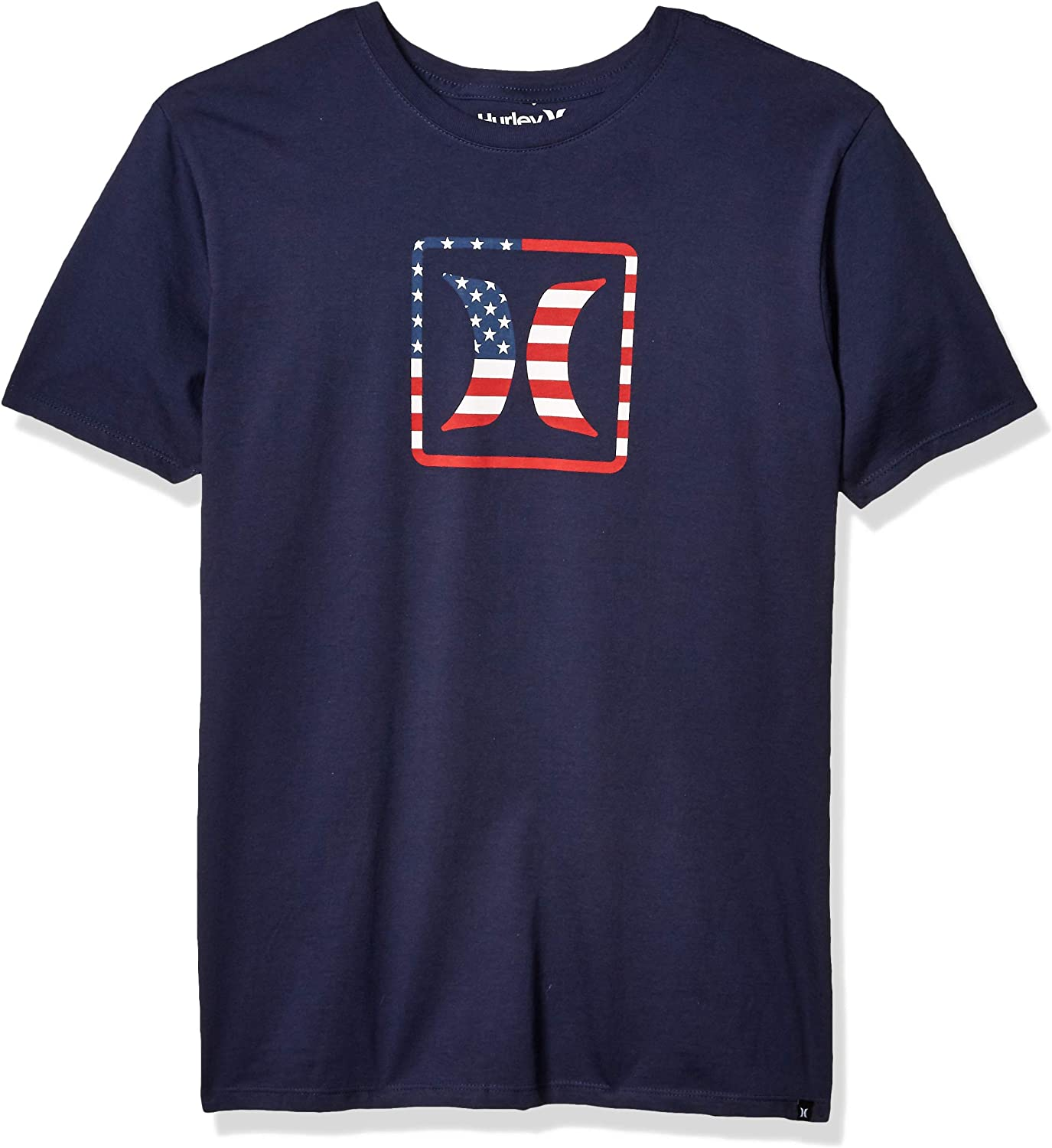 Hurley Men's Premium Block USA Short Sleeve Tee