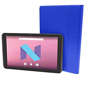 Visual Land Prestige Elite 10.1 IPS [2 in 1] Quad Core 64Bit 16GB Android 7.0 Nougat Tablet with Docking Keyboard Case Stand, Royal Blue (ME10QDDC16BLU) (Color: Blue)