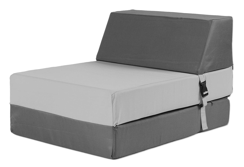 My Note Deco Mangue 066128 - Sillón sin brazos (1 plaza, poliéster, relleno de espuma de poliuretano, 75 x 55 x 55 cm), color gris antracita: Amazon.es: ...