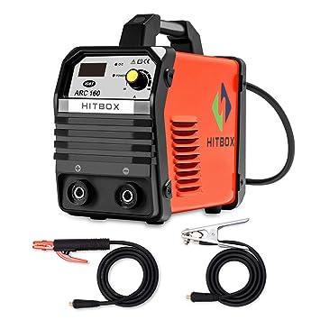 HITBOX 160A 220V MMA Soldador Inversor digital DC Levante TIG Protable Soldadora Soldadora: Amazon.es: Bricolaje y herramientas