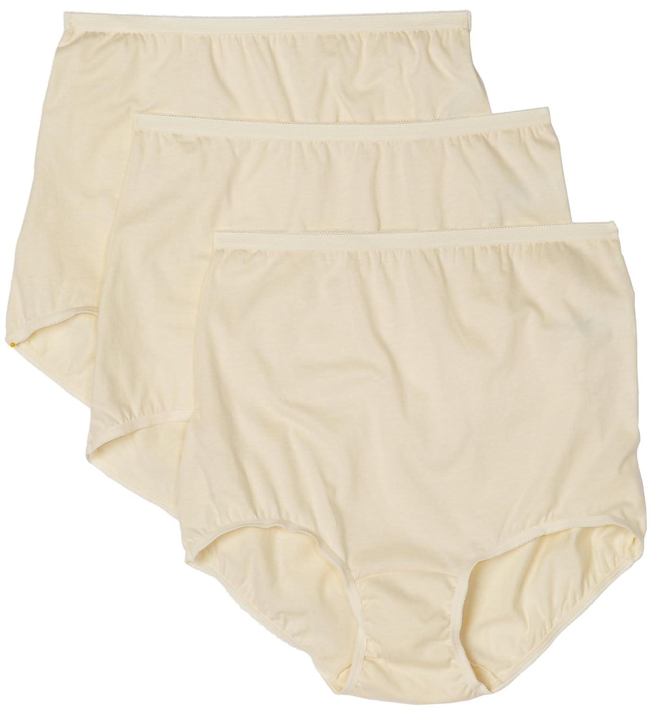 Vanity Fair Womens Lollipop Plus Size Brief Panties 3 Pack