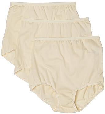 17d0c5385f0441 Vanity Fair Women's Plus Size Lollipop Brief Panties 3 Pack 15361,  Candleglow, Small/