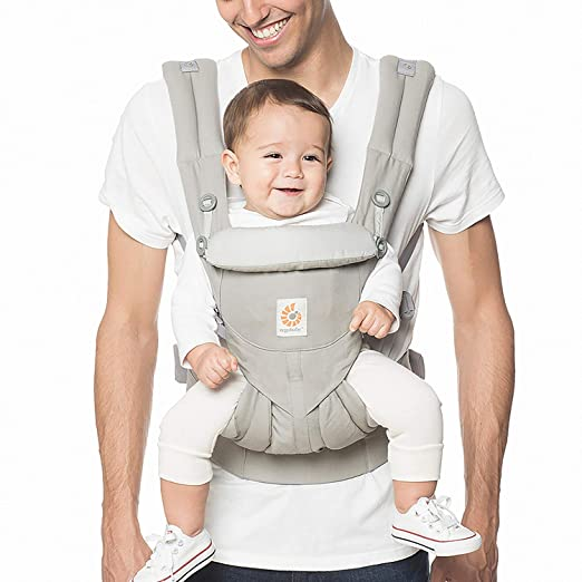 Ergobaby Carrier, Omni 360 All Carry Positions Baby Carrier, Pearl Grey best front-facing baby carrier