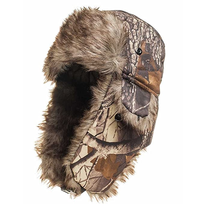 3a4eec31c7e Winter Hat Warm Cap Camouflage Ushanka Ski Trapper Trooper Hunting Cold  Weather Ear Flap Chin Strap