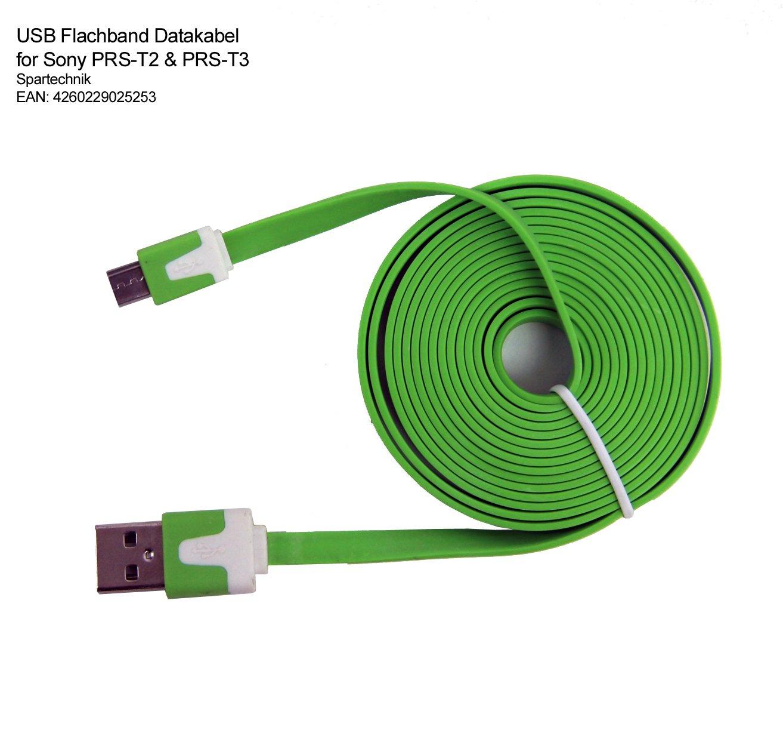 Cable plano USB de datos para Sony PRS-T3 y PRS-T2: Amazon.es ...