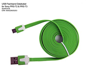 Cable plano USB de datos para Sony PRS-T3 y PRS-T2: Amazon.es ...