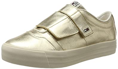 Tommy Hilfiger N1385ice 6z1, Sneakers Basses Femme, (Antique Gold), 41 EU