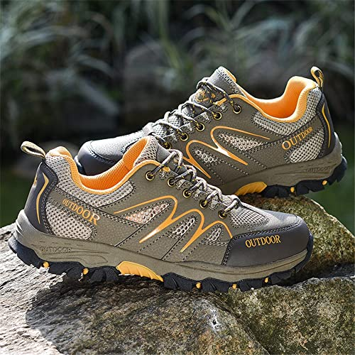 ZESTSPORT Hiking Boots for Mens Women Leather Outdoor Waterproof Backpack Shoes Sneaker Walking Shoes