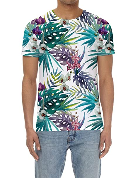 6c99ea1b Image Unavailable. Image not available for. Color: Olivefox Men's 3D  Digital Printed Personalized Short Sleeve T-Shirt ...