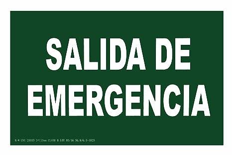 CIEFU-Cartel de Salida de Emergencia Señalizacion ...