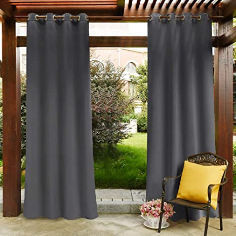 Amazon Com Pony Dance Blackout Outdoor Curtains Solid Indoor