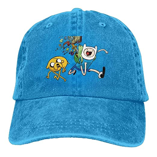 f54a5de0747 Image Unavailable. Image not available for. Color  Adventure Time with Finn    Jake Trend Printing Cowboy Hat Fashion Baseball Cap
