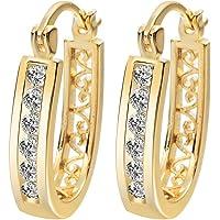 Valentine Women Wedding Gift 18k Gold Plated Earrings Crystal Hoop Earings Factory Price