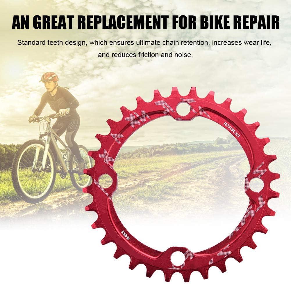 38T BCD 104mm Stahl Einzelkurbelkettenring Reparaturteile f/ür Mountainbike Alomejor Fahrradkettenring 32//34//36