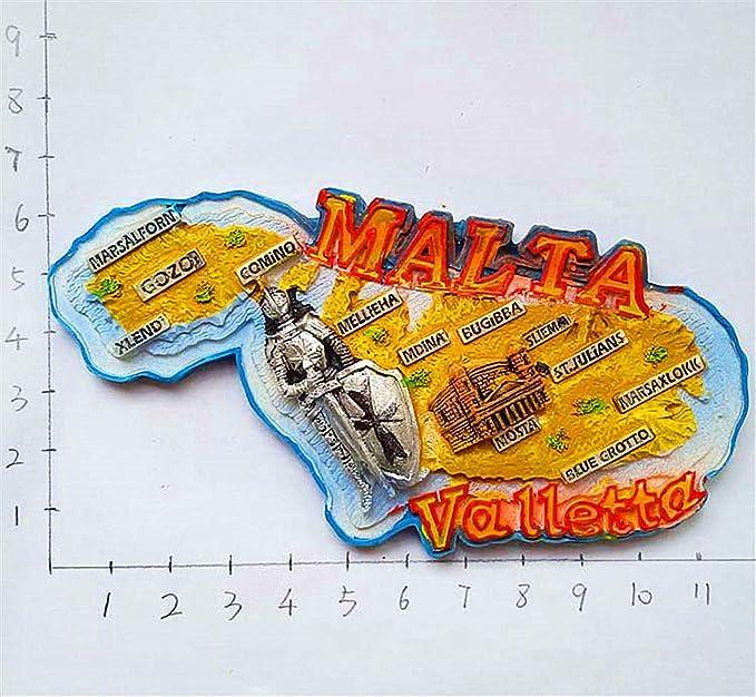 Hqiyaols Souvenir Acorazado Guerrero Valletta Malta Refrigerador ...